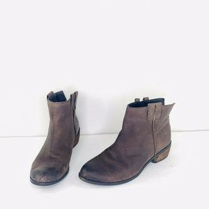 Sam Edelman James Size 8M Leather Booties Side Zip